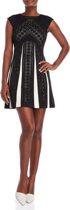 Karen Millen Laser Cut Mini Dress