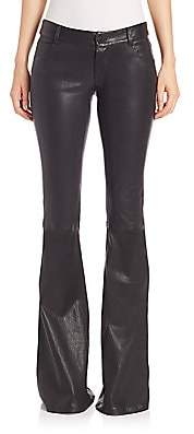 Alice + Olivia Women's Leather Bell Pants