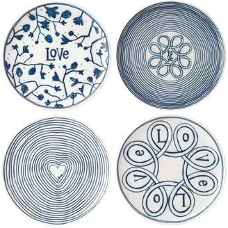 ED Ellen Degeneres by Royal Doulton ED Love Large Porcelain Dinner Plates (Set of 4)