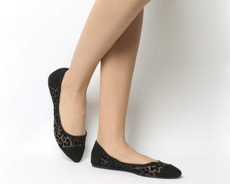 Office Feline Mesh Point Ballet Pumps