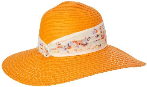 BCBGeneration Women's Lacy-Weave Floral Floppy Hat