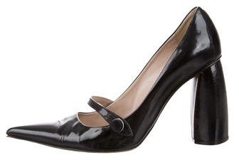 Marc Jacobs Marc Jacobs Leather Mary Jane Pumps