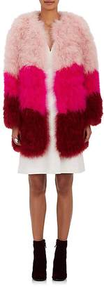 Lisa Perry WOMEN'S COLORBLOCKED FEATHER COAT