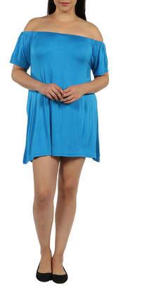 24/7 Comfort Apparel Al Fresco Shift Dress-Plus