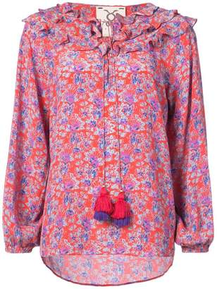 Figue Millie ruffled floral blouse