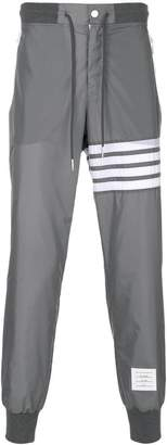 Thom Browne 4-Bar Stripe Lightweight Ripstop Sweatpants