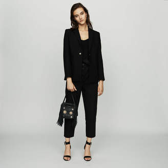 Maje Suit jacket with pressed detailing