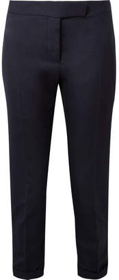 Thom Browne Cropped Wool-pique Skinny Pants - Midnight blue