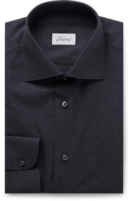 Brioni Storm-blue Cotton Shirt - Storm blue