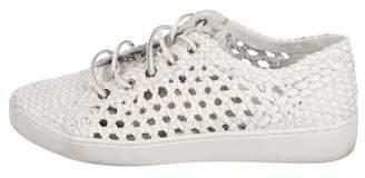 Michael Kors Woven Low-Top Sneakers
