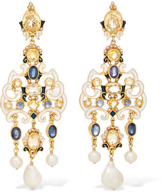 Papi Percossi Gold-plated Multi-stone Earrings
