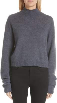 ADAM by Adam Lippes Brushed Cashmere & Silk Turtleneck Sweater