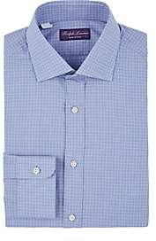 Ralph Lauren Purple Label MEN'S HOUNDSTOOTH CHECKED COTTON DRESS SHIRT