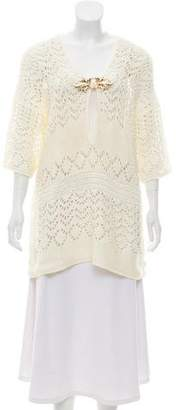 Emilio Pucci Crochet Long Sleeve Top w/ Tags