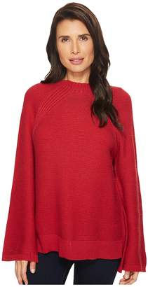 Vince Camuto Mock Neck Bell Raglan Sleeve Sweater Women's Sweater