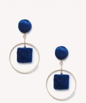 Sole Society Le Gala Velvet Statement Earrings