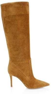 Gianvito Rossi Suede Point Toe Tall Boots