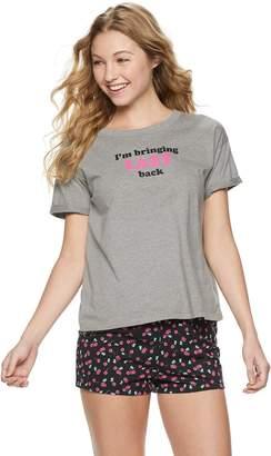 dae135f5bac88 So Juniors  SO Boxy Tee   Pajama Shorts Set