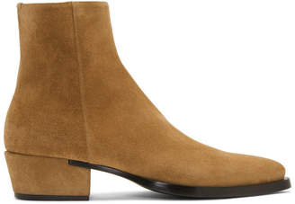 Givenchy Beige Suede Dallas Boots