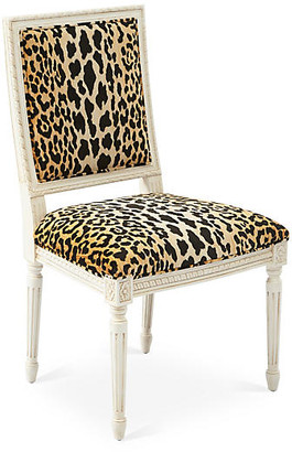One Kings Lane Exeter Side Chair - Leopard