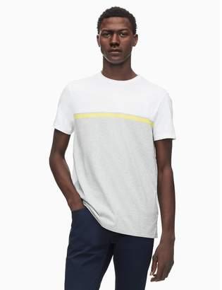 Calvin Klein regular fit panel stripe crewneck t-shirt