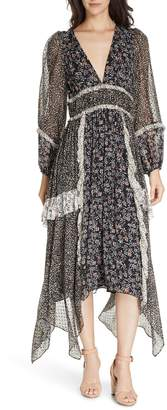 Ulla Johnson Primrose Floral Print Silk Blend Midi Dress