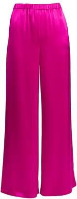 St. John Liquid Satin Wide-Leg Trousers