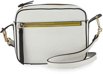 Neiman Marcus Carlin Colorblock Faux-Leather Camera Bag