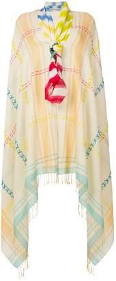 Tsumori Chisato oversized embroidered detail scarf