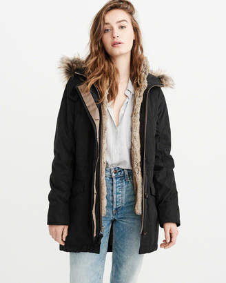 Abercrombie & Fitch 3-in-1 Fur Lined Parka