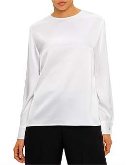 St. John Lightweight Liquid Satin Blouse