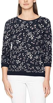 tamaño X corta Sudadera de fabricante Tailor mujer capucha con con flores de manga estampado del Tom para IOOFaqxpw