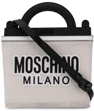 Moschino logo mesh tote bag
