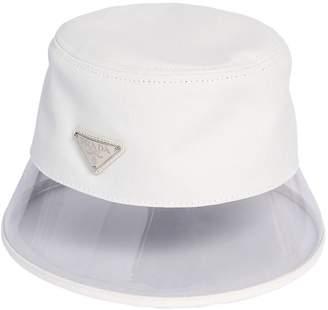 dc3329c8543 Prada Cotton   Plexi Bucket Hat W  Logo Tag