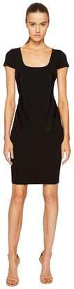 Zac Posen Rib Knit Scoop Neck Short Sleeve Dress Women's Dress