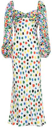 Rixo Gio silk-blend satin dress