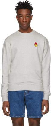 Ami Alexandre Mattiussi Grey Smiley Edition Patch Sweatshirt
