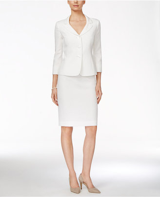 Le Suit Three-Button Jacquard Skirt Suit $200 thestylecure.com