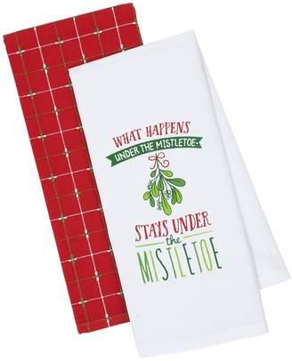 Design Imports Under Mistletoe Cotton Dishtowels (Set of 2)