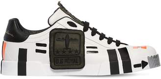 Dolce & Gabbana Portofino Army Leather Sneakers