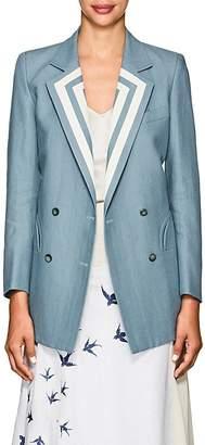 BLAZÉ MILANO Women's Everyday Linen Double-Breasted Blazer