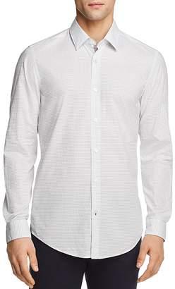 BOSS Lukas Dot Print Regular Fit Button-Down Shirt