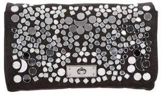 By Malene Birger Embellished Metallic Clutch