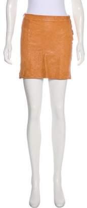 Humanoid Mini Leather Skirt
