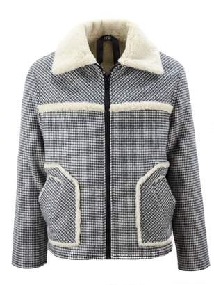 N°21 N.21 White And Black Check Wool Cloth Jacket.