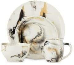 Marble Tortoise Sixteen-Piece Dinner Set