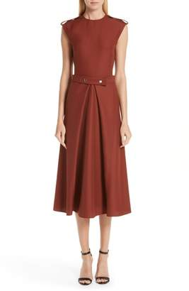 Victoria Beckham Belted Midi Dress