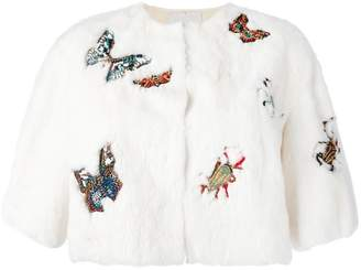 Valentino embroidered cropped jacket