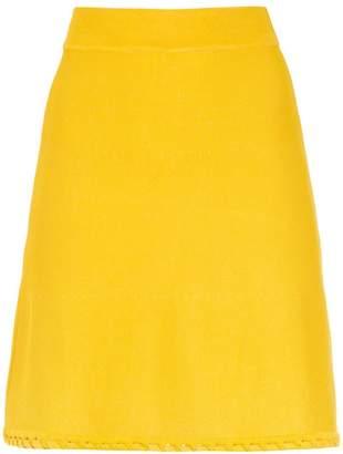 Egrey knitted flared skirt