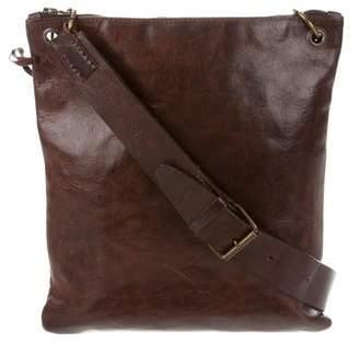 John Varvatos Distressed Messenger Bag
